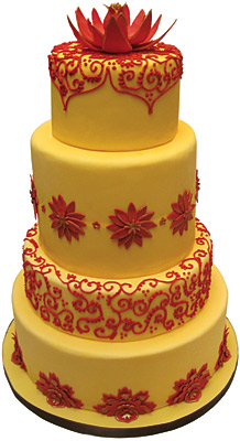 Indian Wedding Cake - The Sugar Syndicate Chicago
